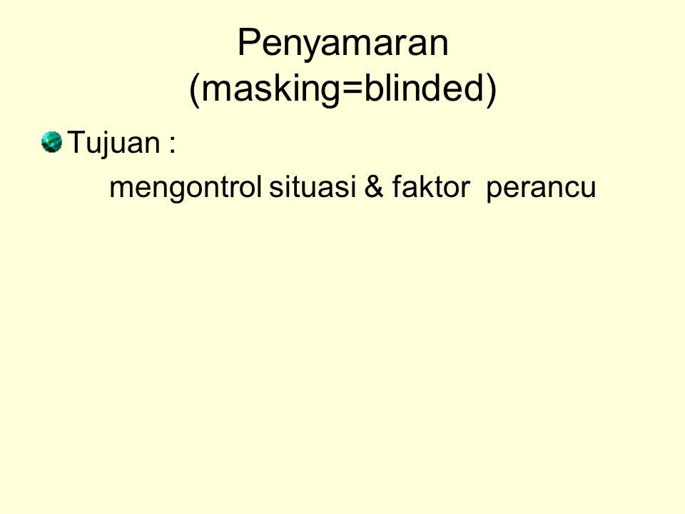 Penyamaran (masking=blinded)