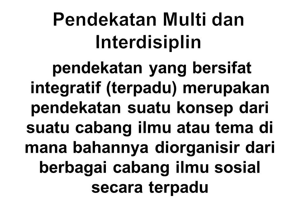 Pendekatan Multi dan Interdisiplin
