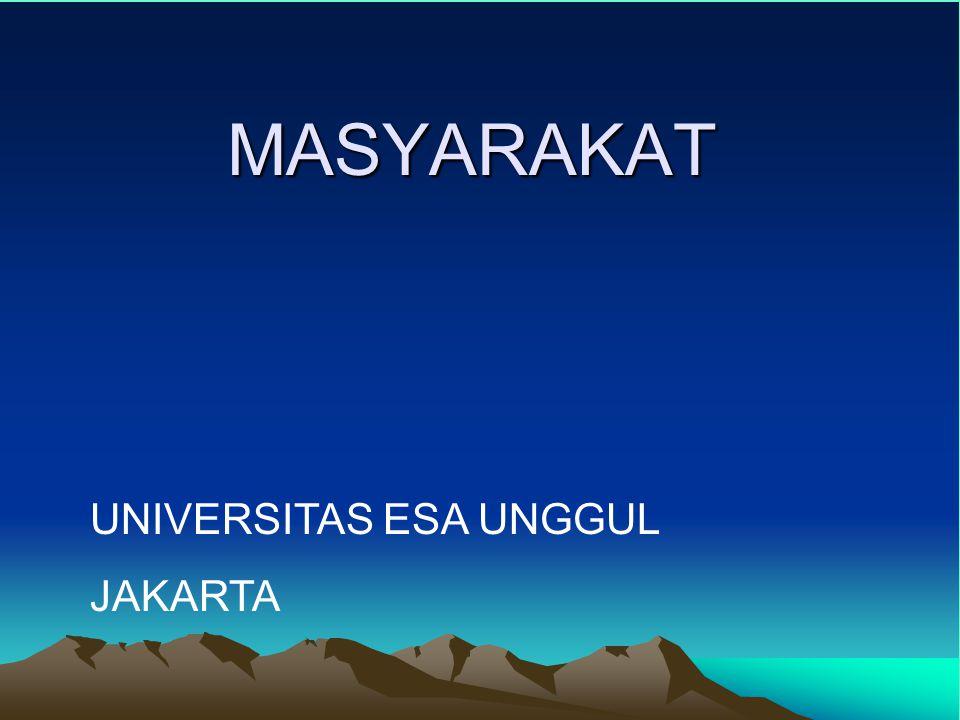 MASYARAKAT UNIVERSITAS ESA UNGGUL JAKARTA