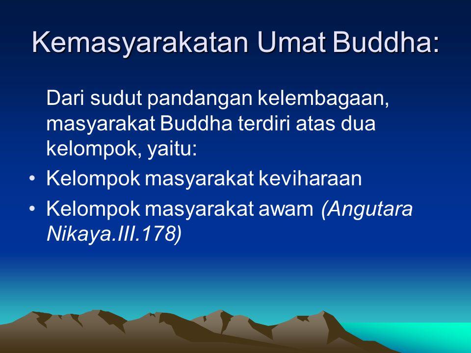 Kemasyarakatan Umat Buddha: