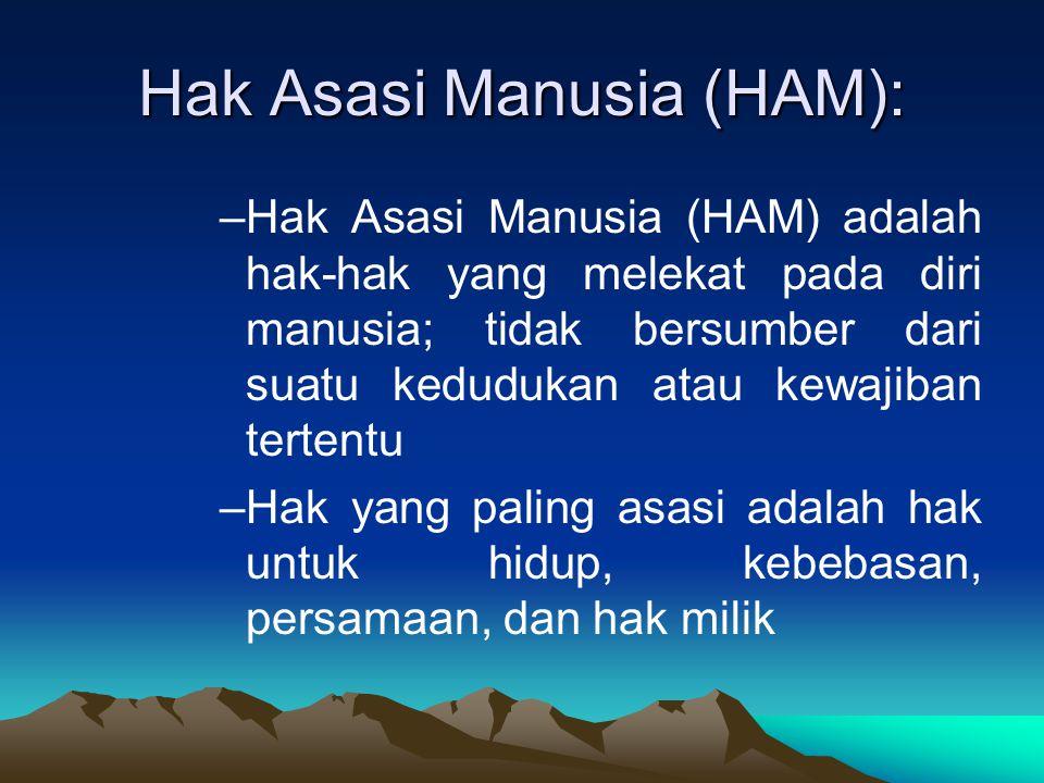 Hak Asasi Manusia (HAM):