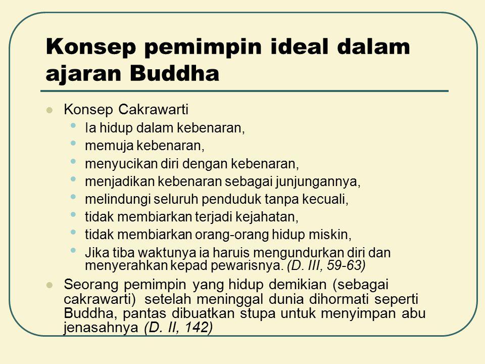 Konsep pemimpin ideal dalam ajaran Buddha