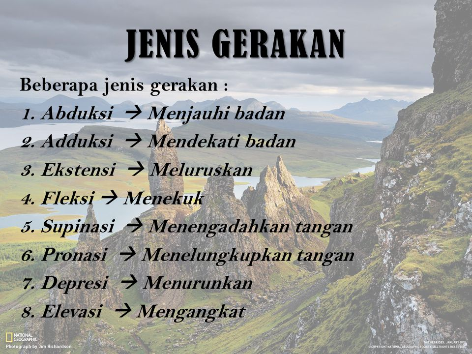 JENIS GERAKAN