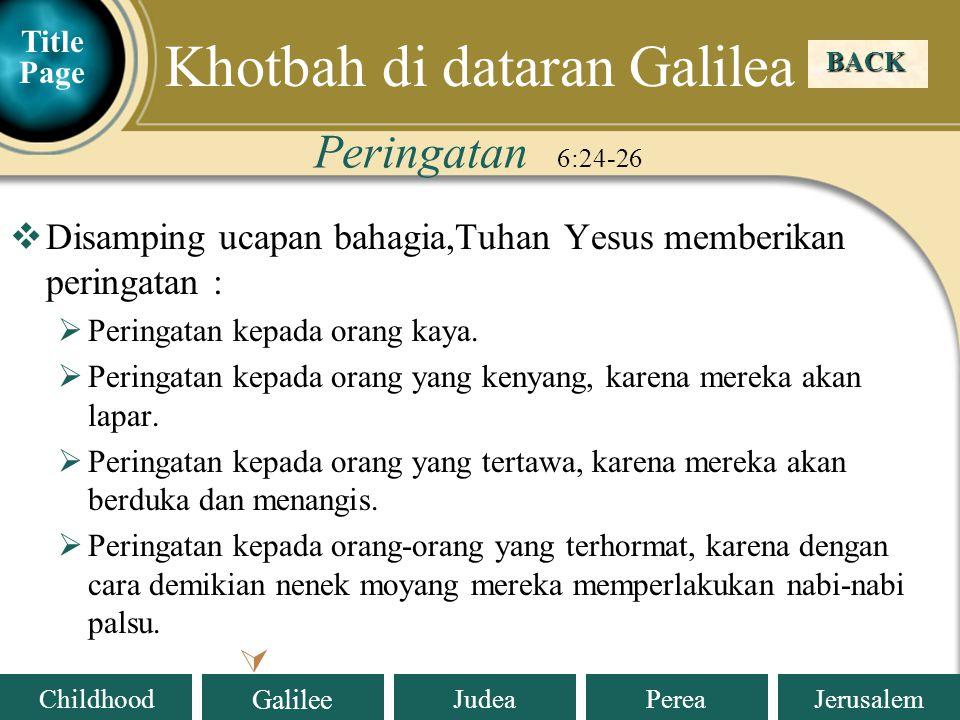 Khotbah di dataran Galilea