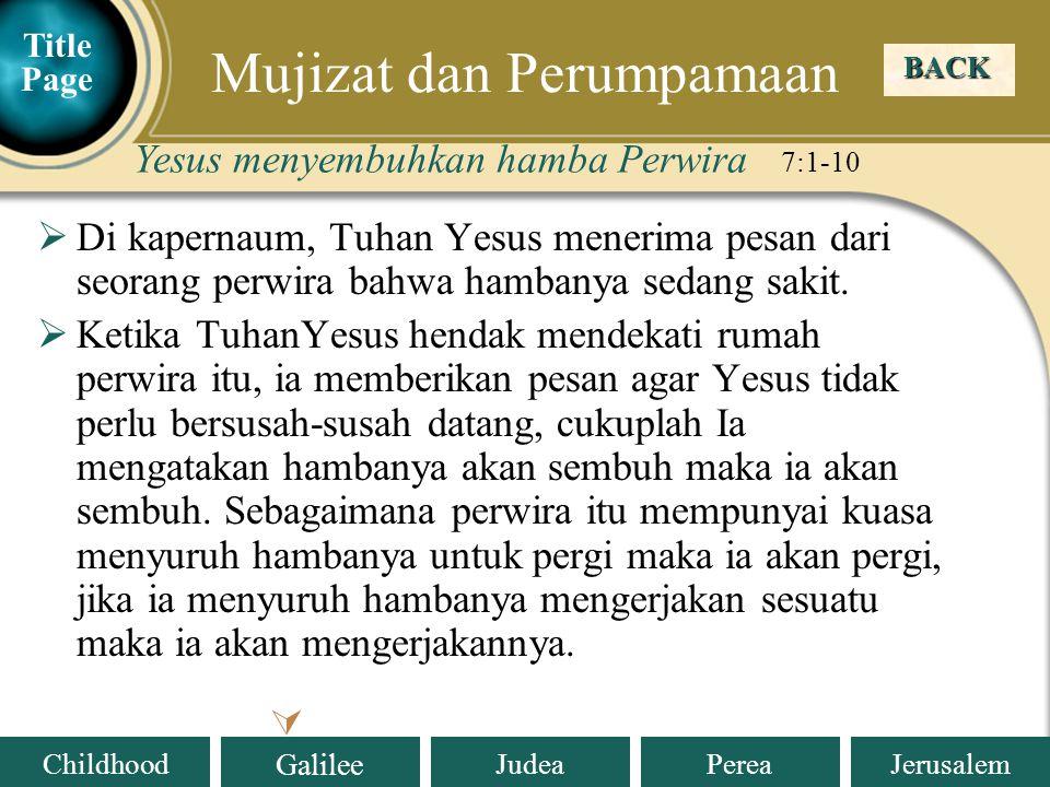 Mujizat dan Perumpamaan