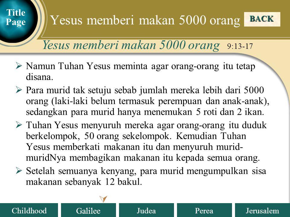 Yesus memberi makan 5000 orang