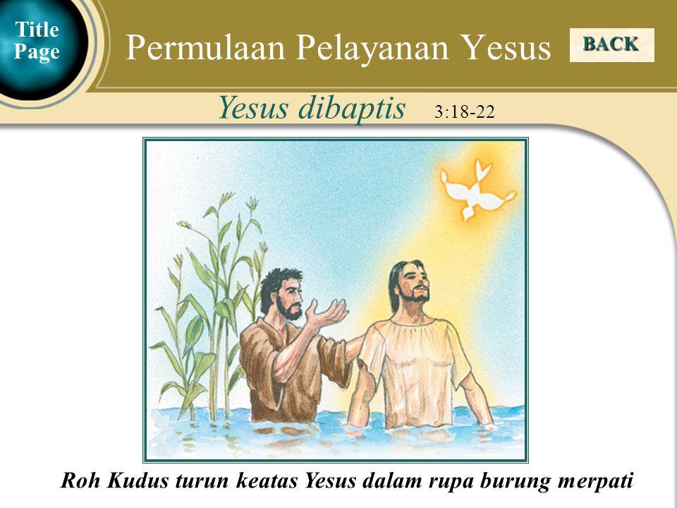 Permulaan Pelayanan Yesus
