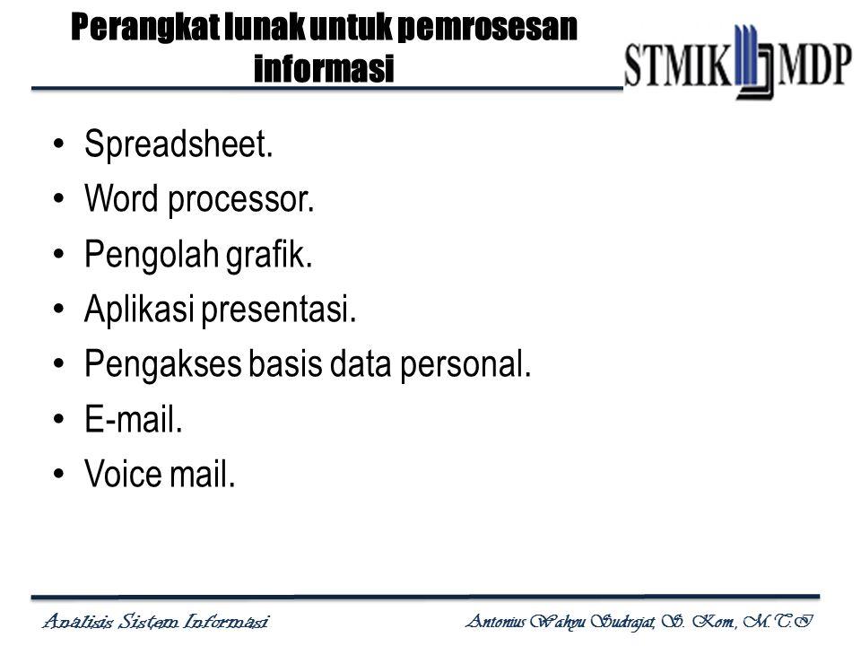 Perangkat lunak untuk pemrosesan informasi