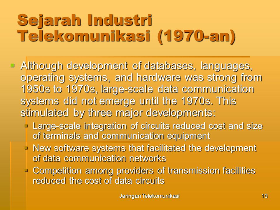 Sejarah Industri Telekomunikasi (1970-an)