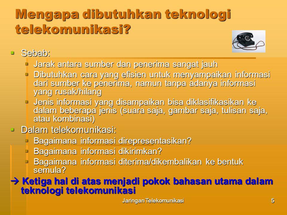 Mengapa dibutuhkan teknologi telekomunikasi