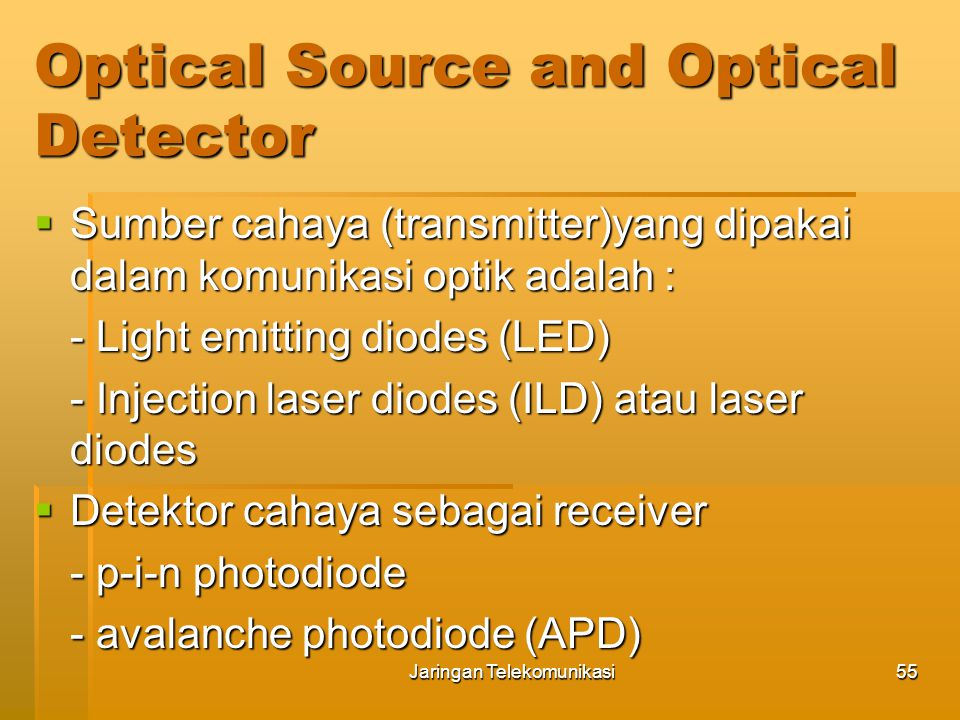 Optical Source and Optical Detector