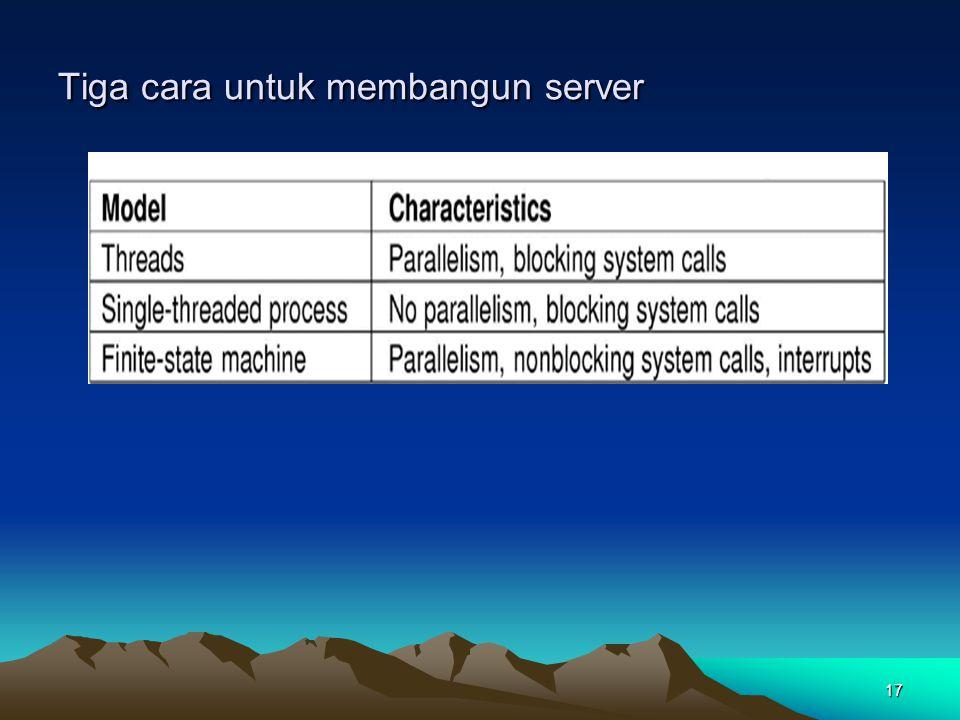 Tiga cara untuk membangun server