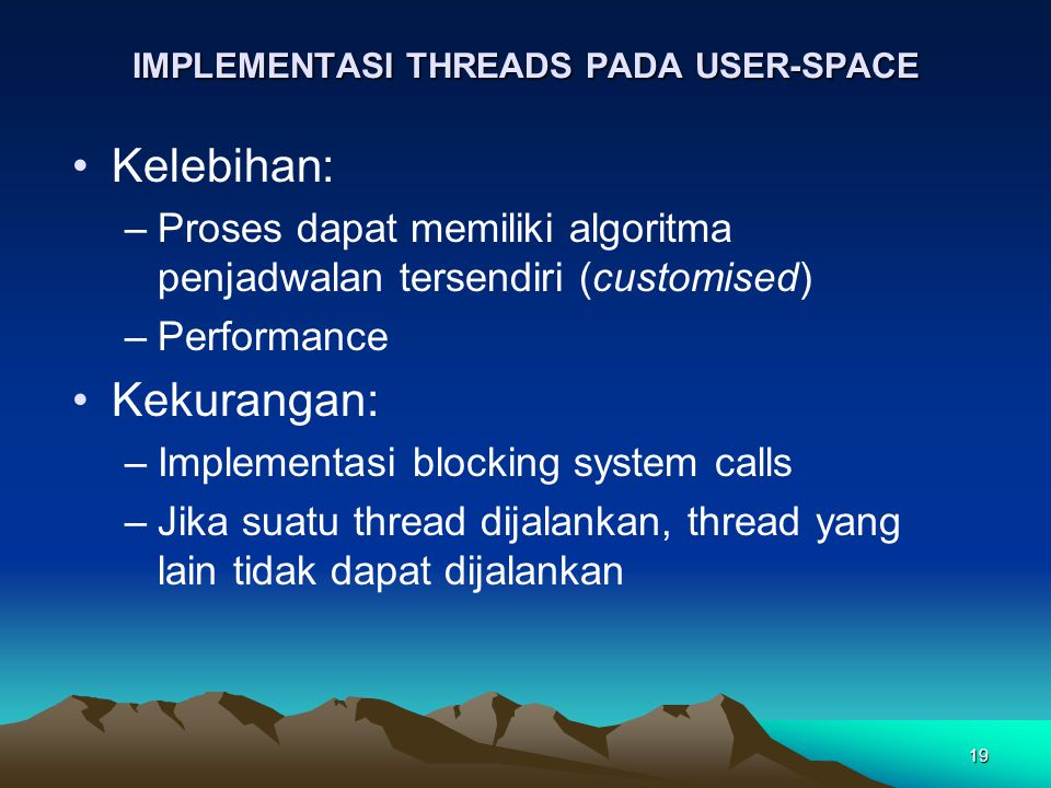 IMPLEMENTASI THREADS PADA USER-SPACE