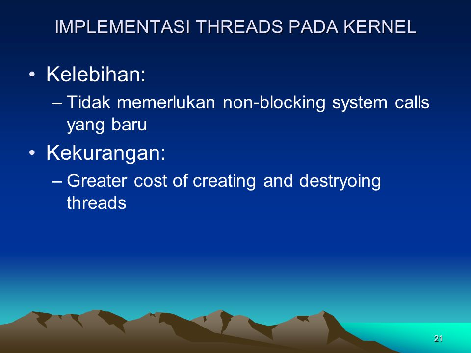 IMPLEMENTASI THREADS PADA KERNEL