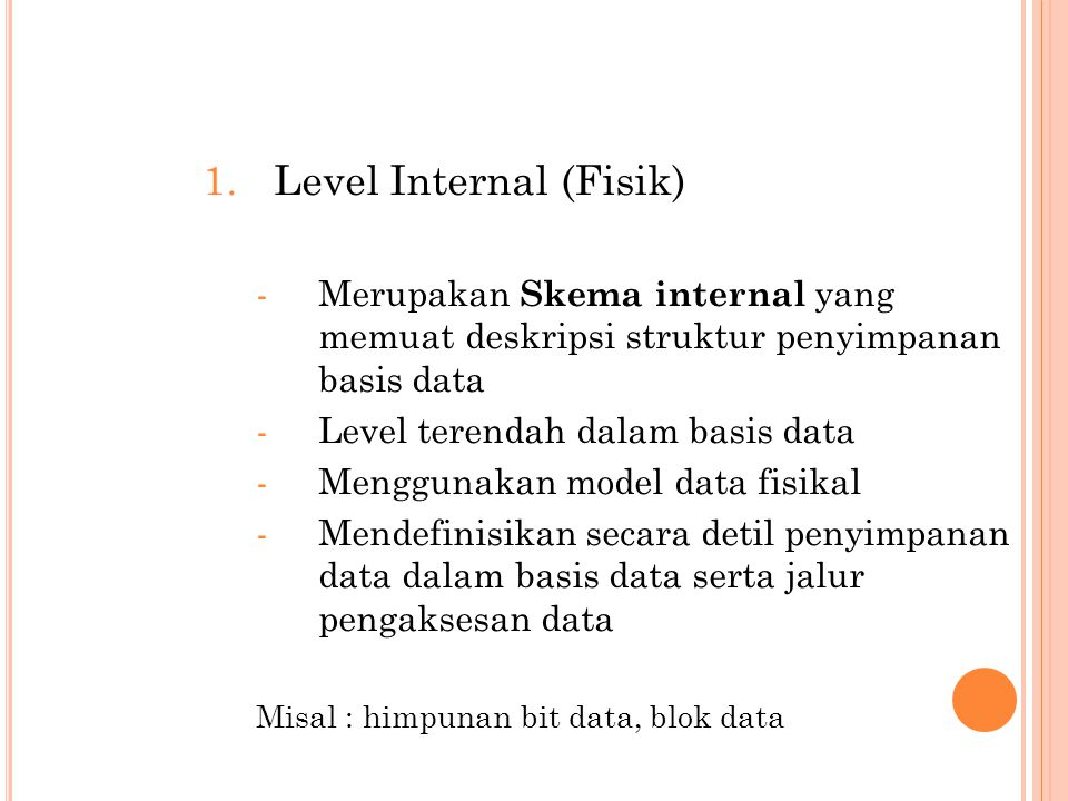 Level Internal (Fisik)