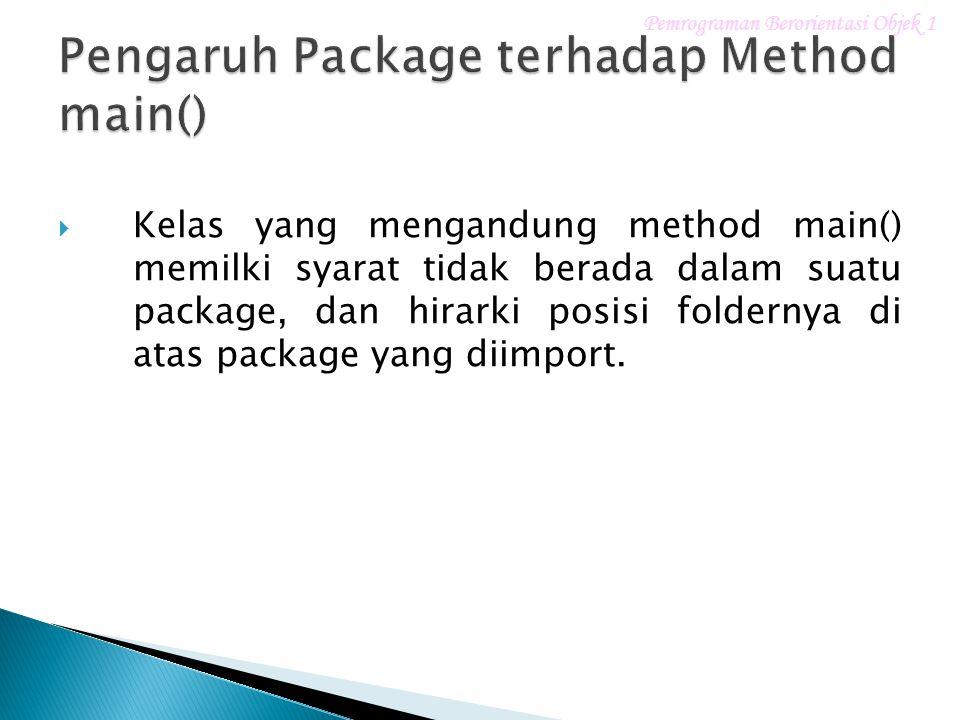 Pengaruh Package terhadap Method main()