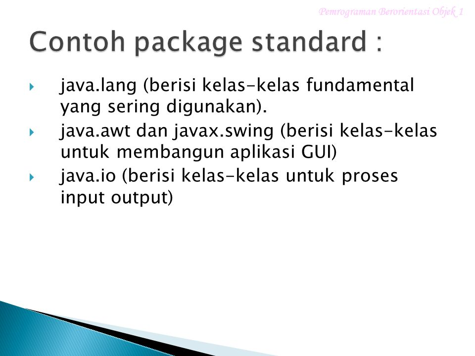 Contoh package standard :