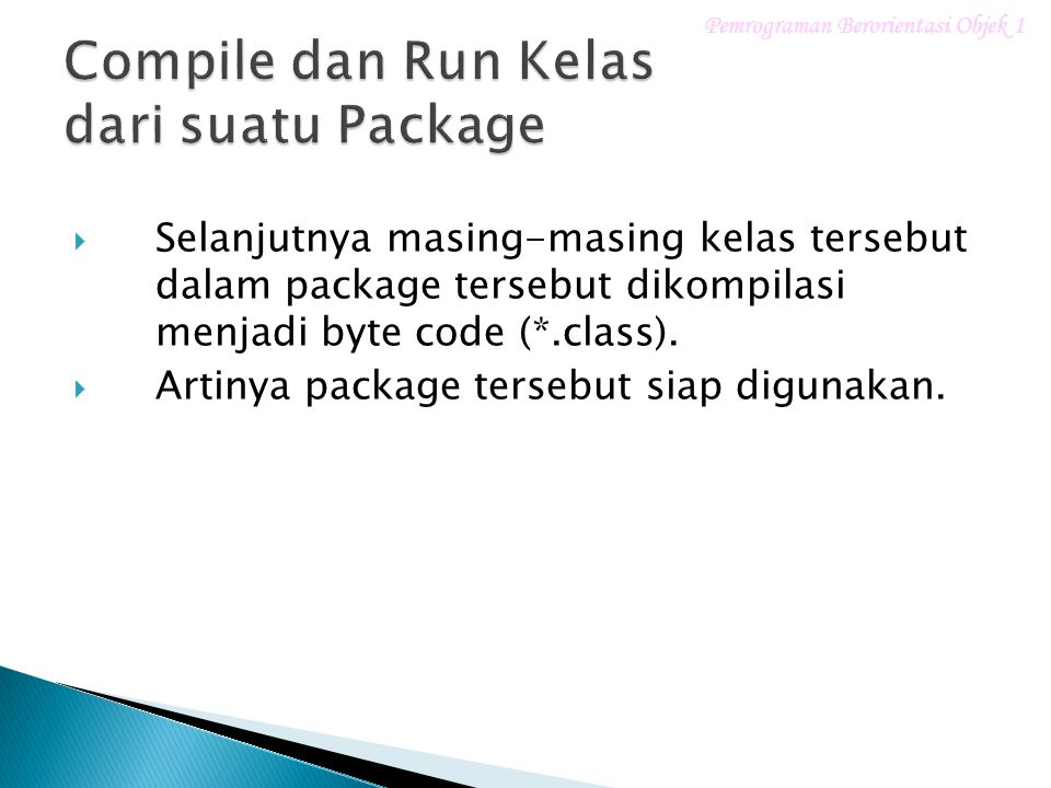 Compile dan Run Kelas dari suatu Package