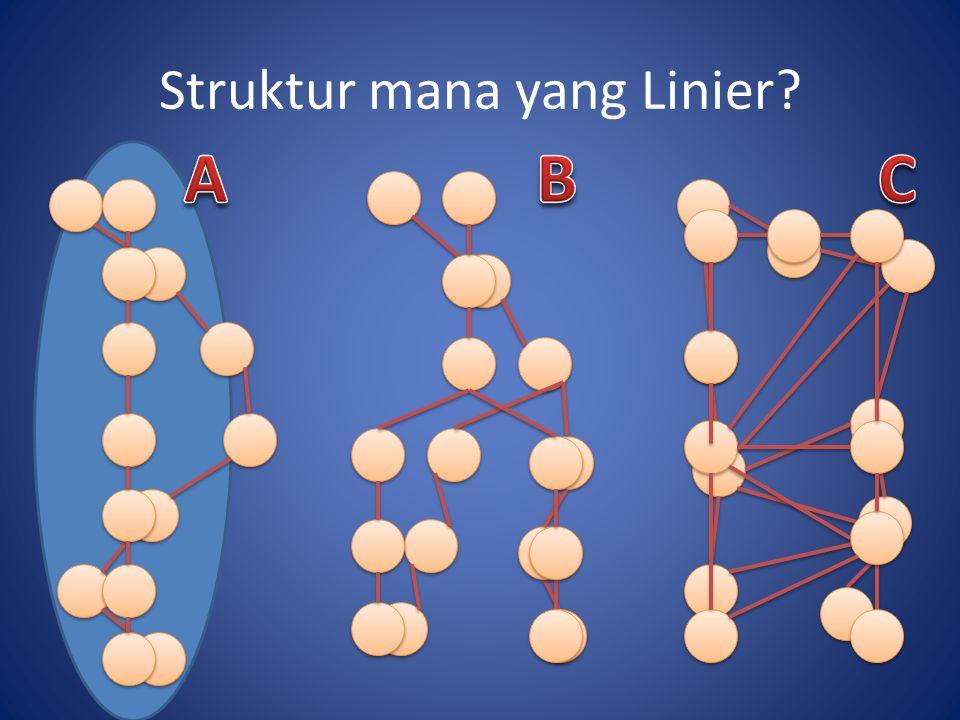 Struktur mana yang Linier