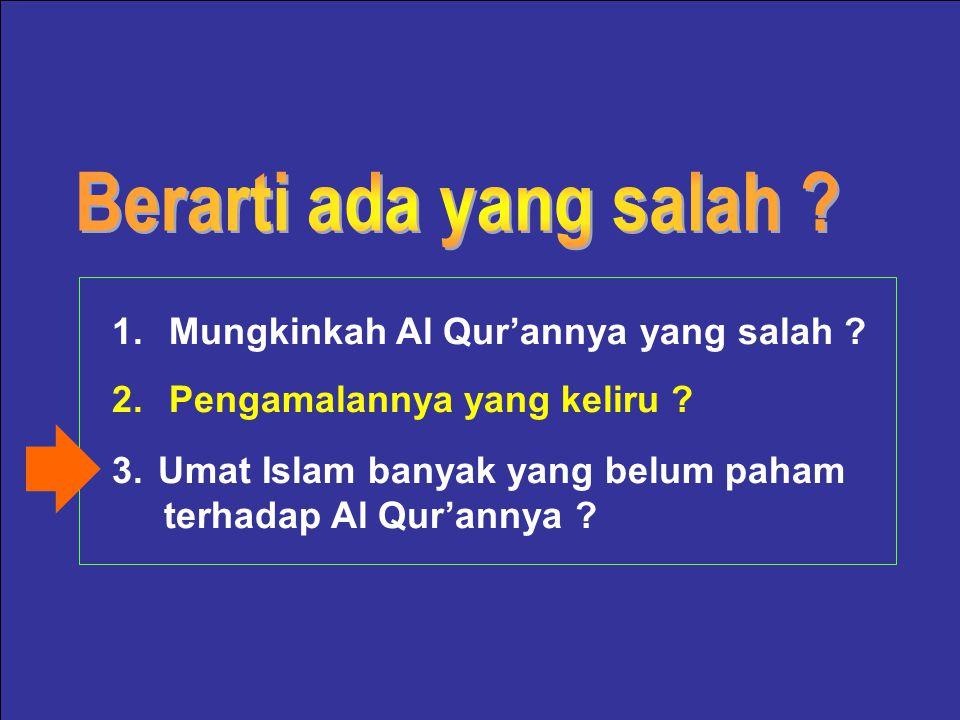 TERBUKTI Berarti ada yang salah Bangsa Indonesia yang terdiri mayoritas muslim, ternyata tidak mampu menunjukkan sebagai bangsa yang terbaik.