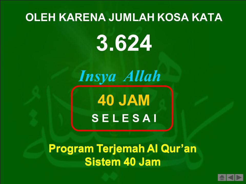 Program Terjemah Al Qur'an Program Terjemah Al Qur'an