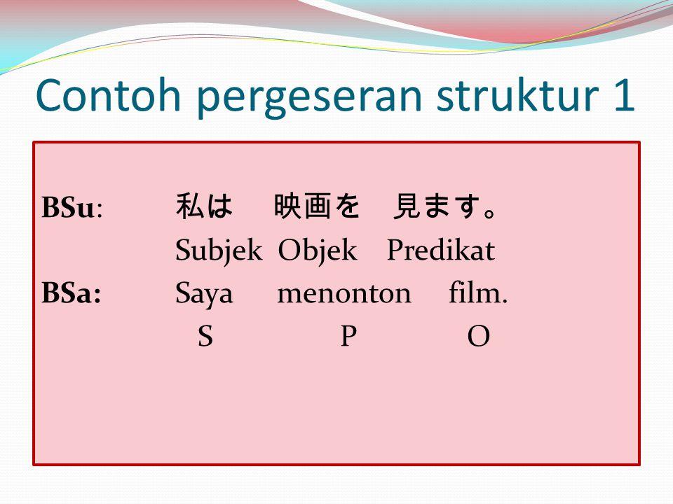 Contoh pergeseran struktur 1