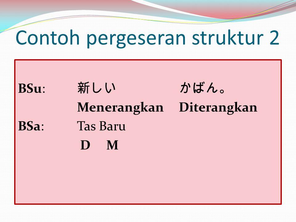 Contoh pergeseran struktur 2