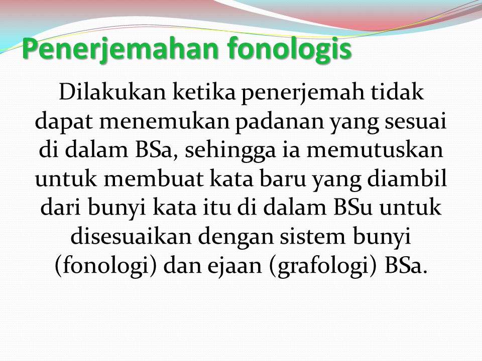 Penerjemahan fonologis