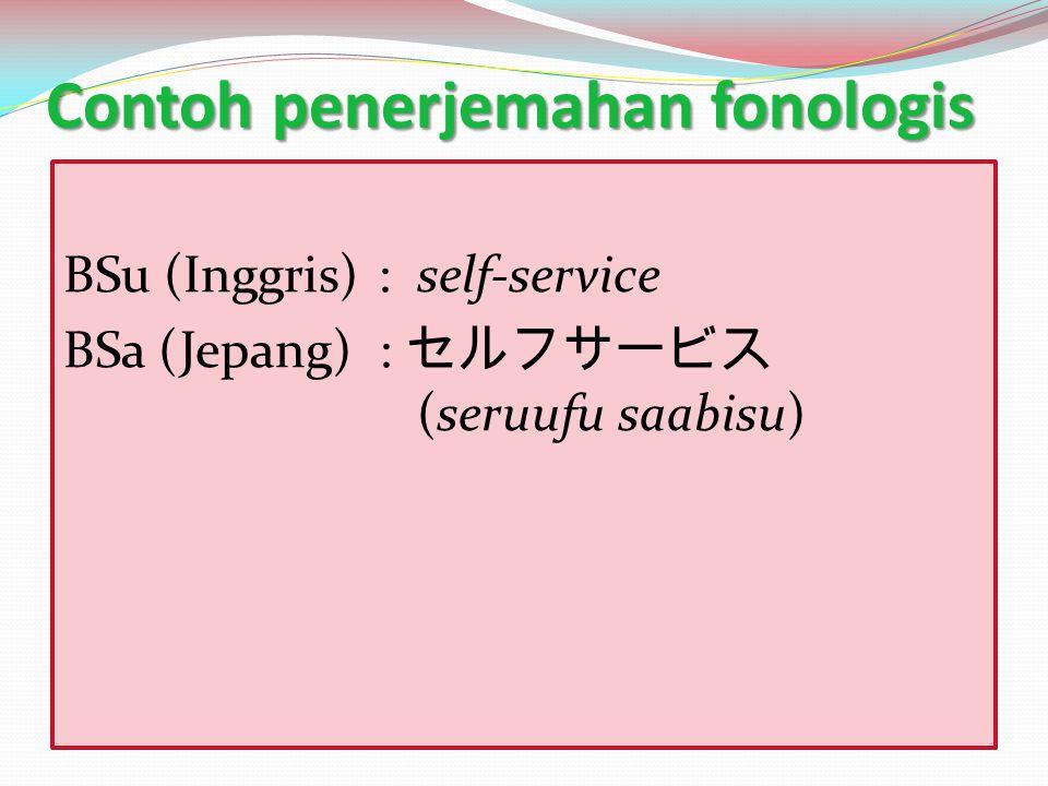 Contoh penerjemahan fonologis