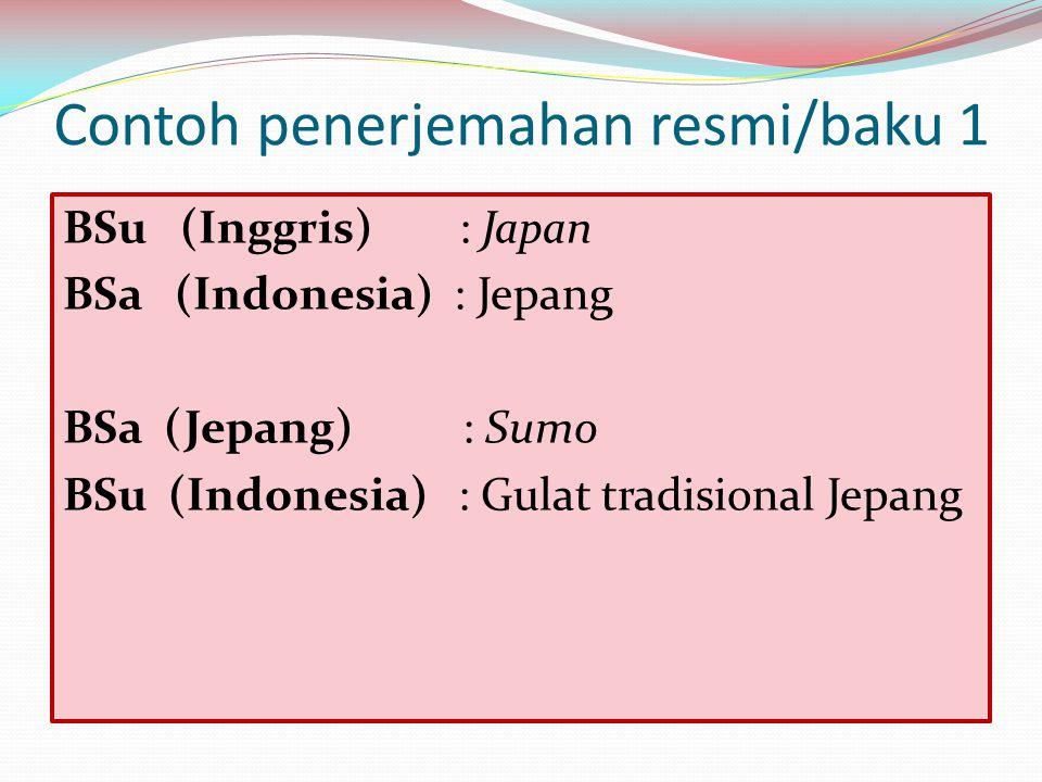 Contoh penerjemahan resmi/baku 1