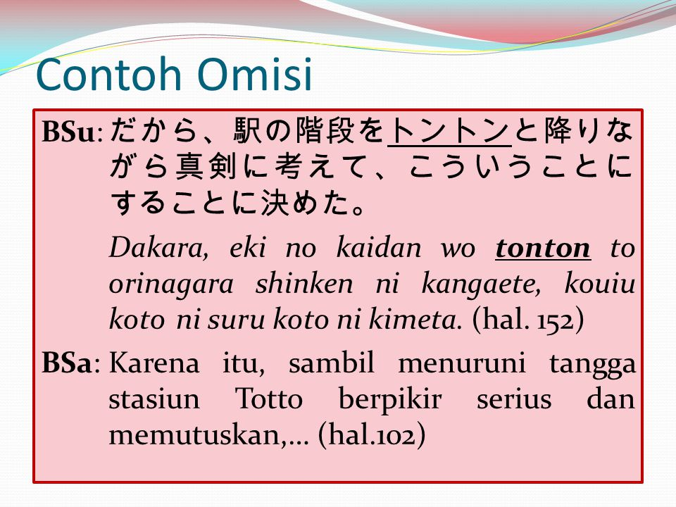 Contoh Omisi