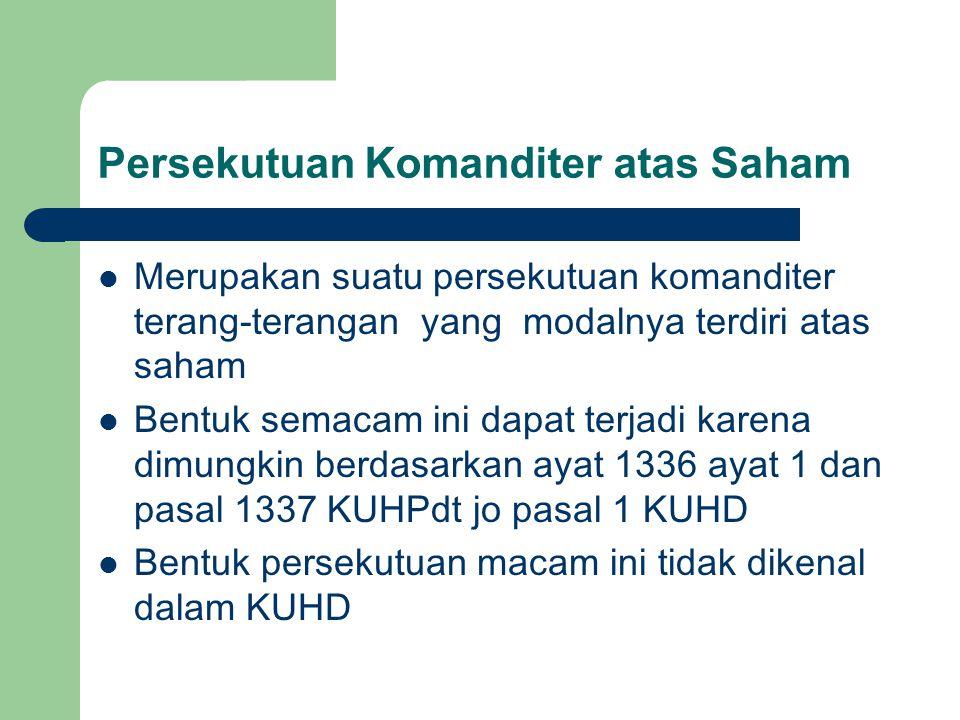 Persekutuan Komanditer atas Saham