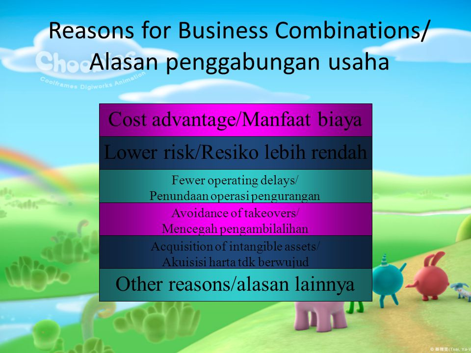 Reasons for Business Combinations/ Alasan penggabungan usaha
