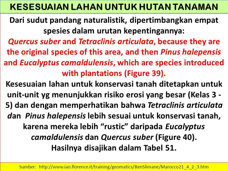 KESESUAIAN LAHAN UNTUK HUTAN TANAMAN