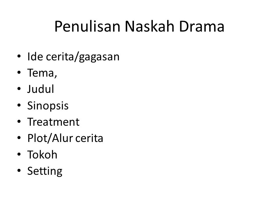 Penulisan Naskah Drama