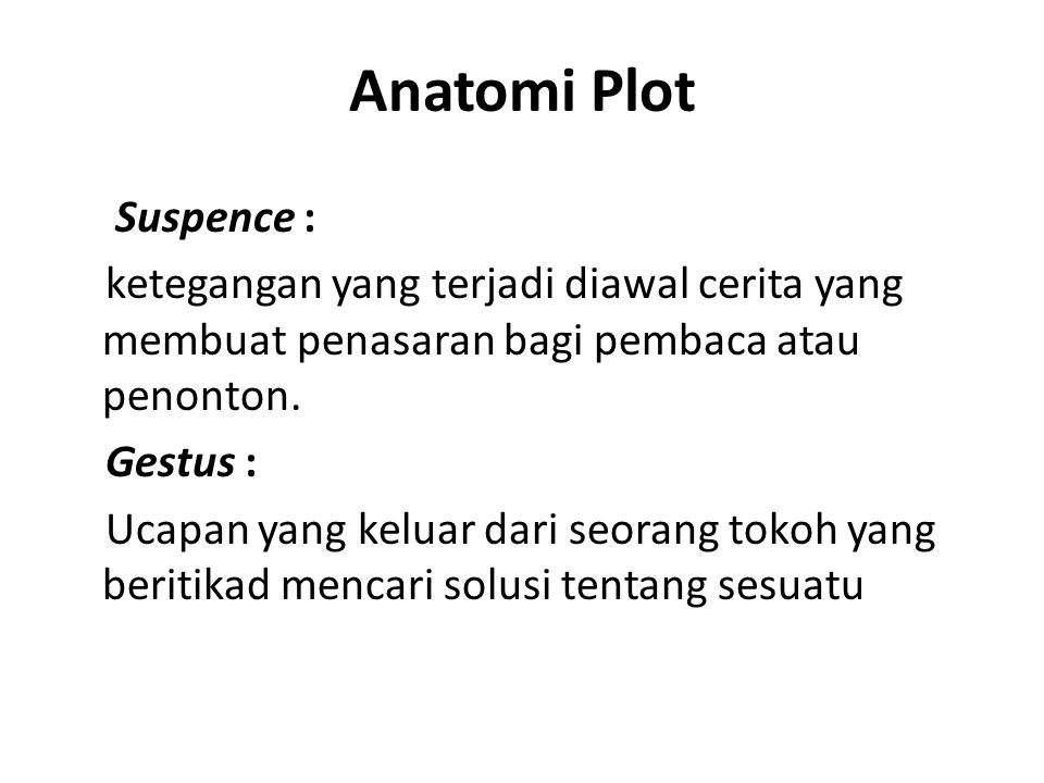 Anatomi Plot Suspence :