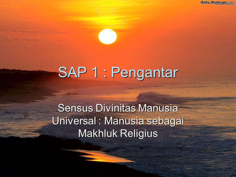 Sensus Divinitas Manusia Universal : Manusia sebagai Makhluk Religius