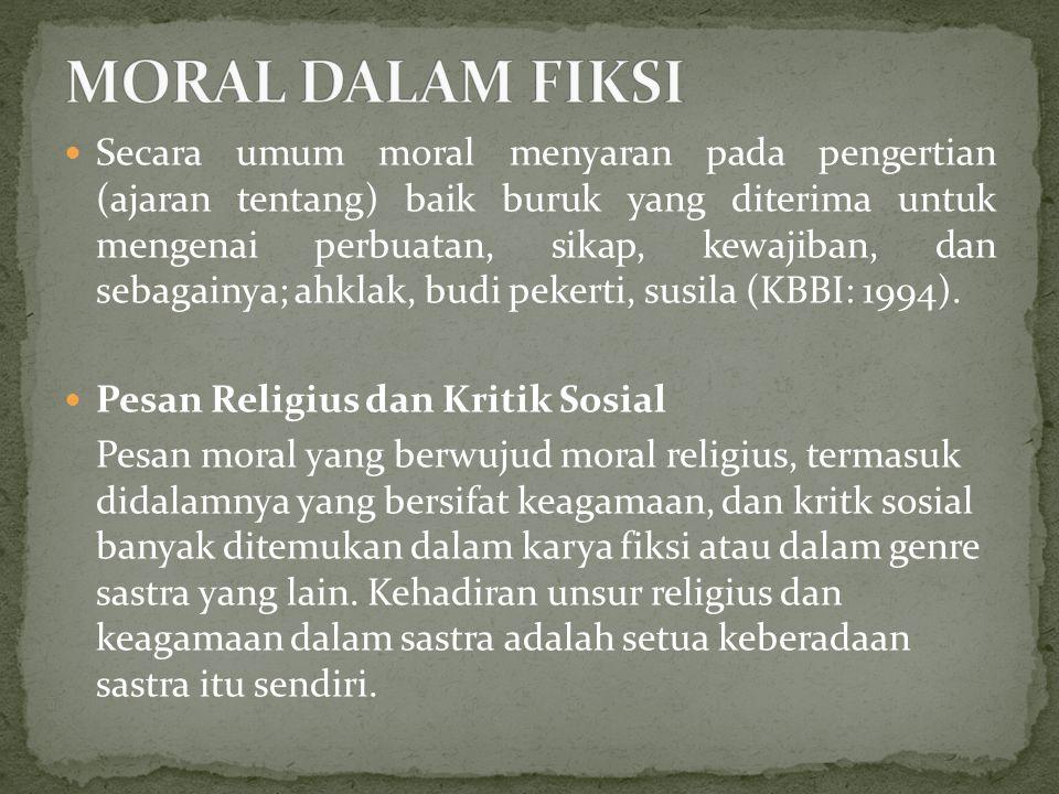 MORAL DALAM FIKSI