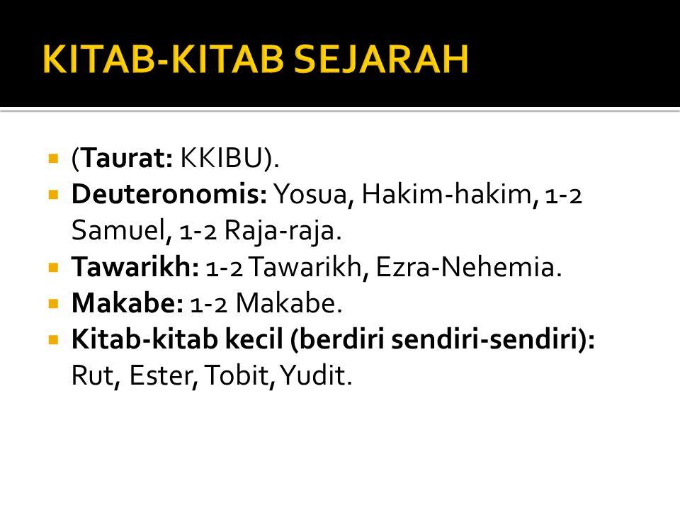 KITAB-KITAB SEJARAH (Taurat: KKIBU).