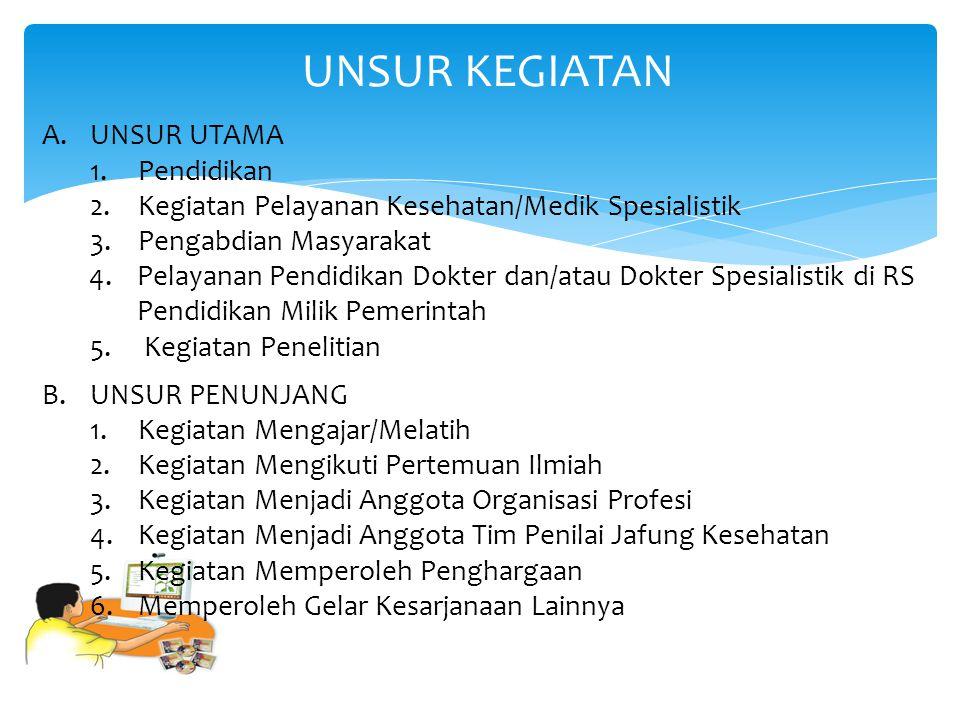 UNSUR KEGIATAN A. UNSUR UTAMA 1. Pendidikan