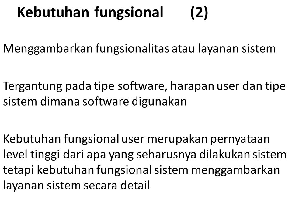 Kebutuhan fungsional (2)