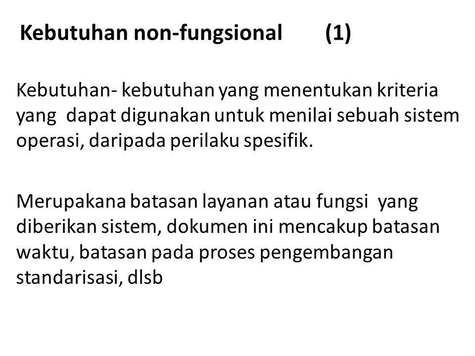 Kebutuhan non-fungsional (1)