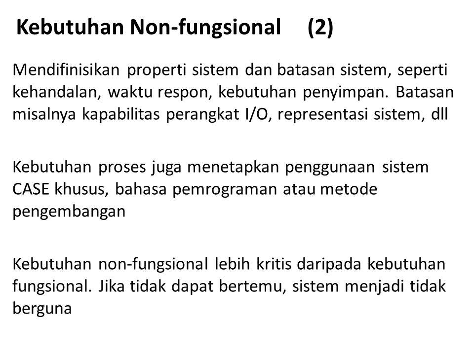 Kebutuhan Non-fungsional (2)