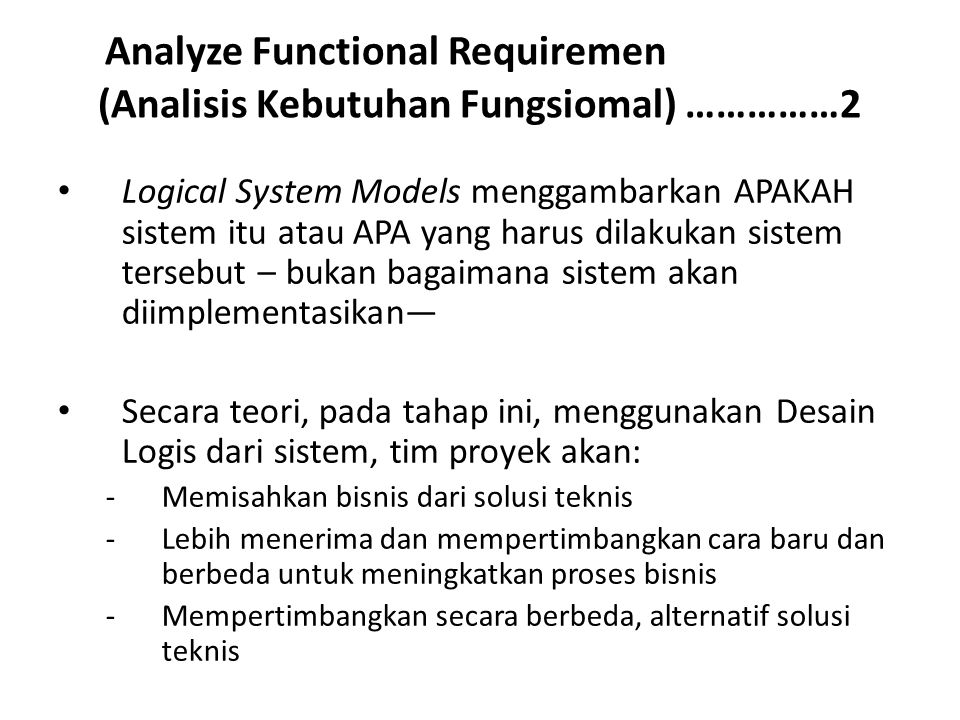 Analyze Functional Requiremen (Analisis Kebutuhan Fungsiomal) ……………2