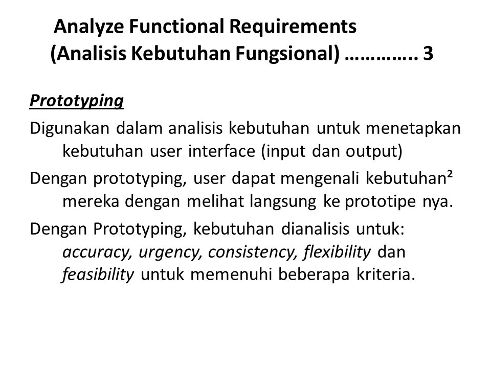Analyze Functional Requirements (Analisis Kebutuhan Fungsional) ………….. 3