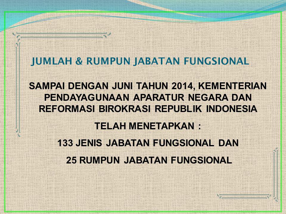 JUMLAH & RUMPUN JABATAN FUNGSIONAL