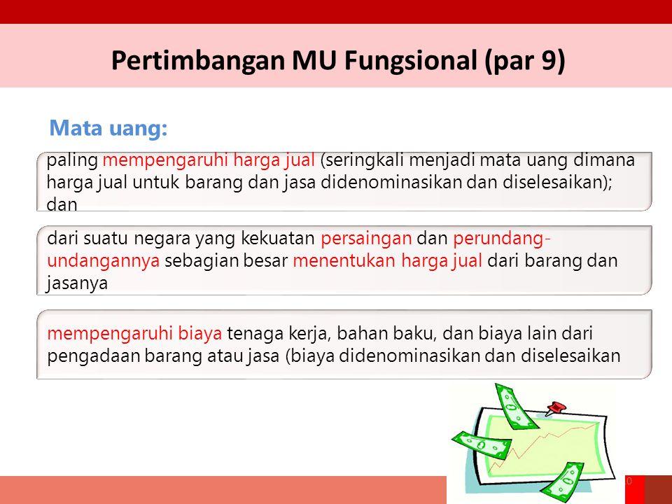 Pertimbangan MU Fungsional (par 9)