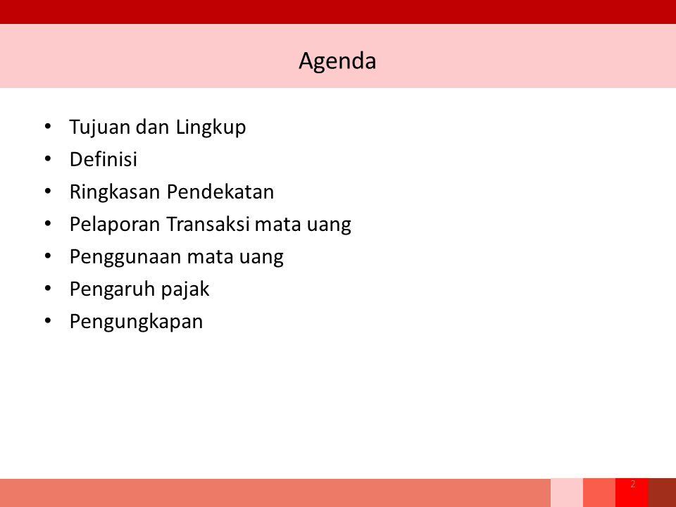 Agenda Tujuan dan Lingkup Definisi Ringkasan Pendekatan