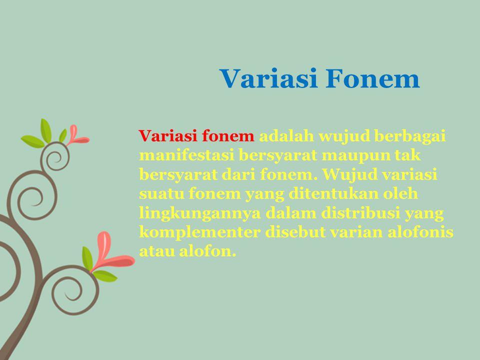 Variasi Fonem