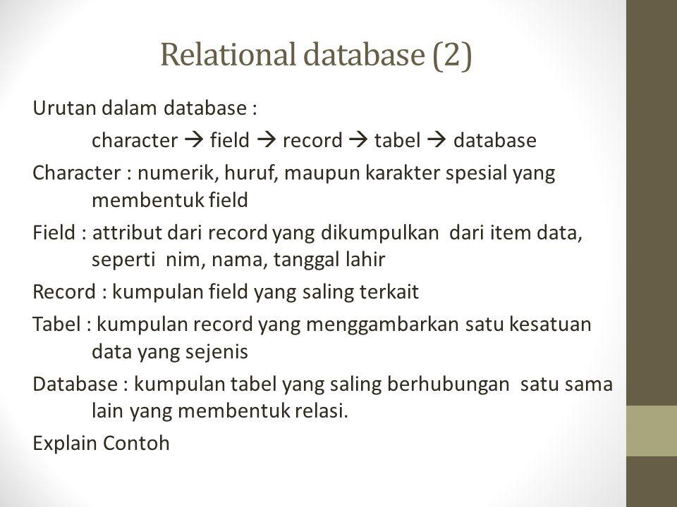 Relational database (2)